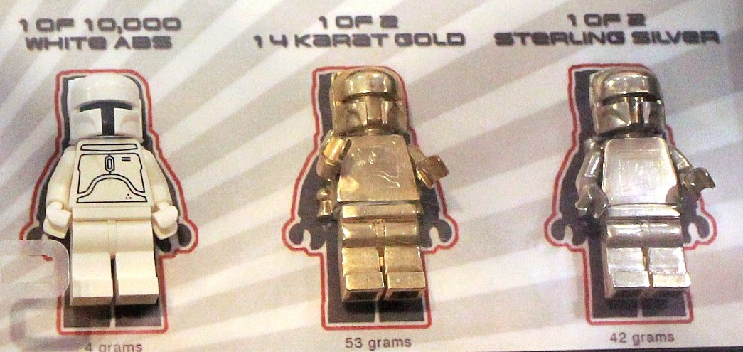 Lego Solid 14k Gold And Sterling Silver Boba Fett Minifigure