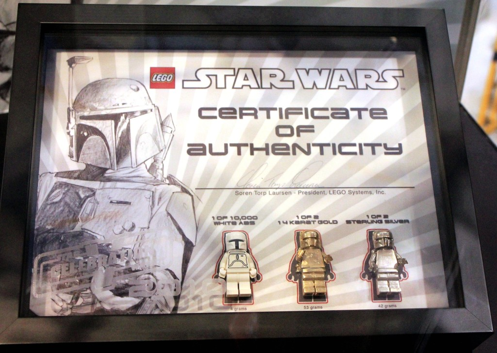 Lego Star Wars Gold and Silver Boba Fett SDCC 2010 and Celebration V giveaway