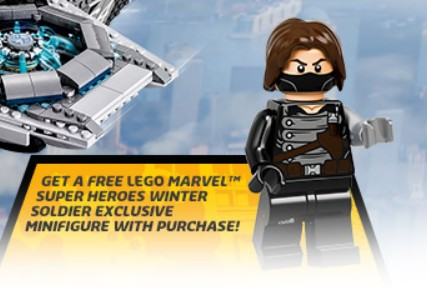 LEGO Marvel Super Heroes Winter Soldier Exclusive Minifigure with 76042 Helicarrier Purchase