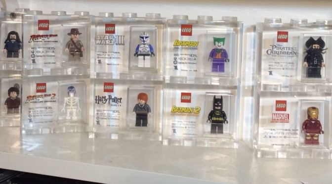 Large Collection of TT Games Acrylic Trophy Bricks