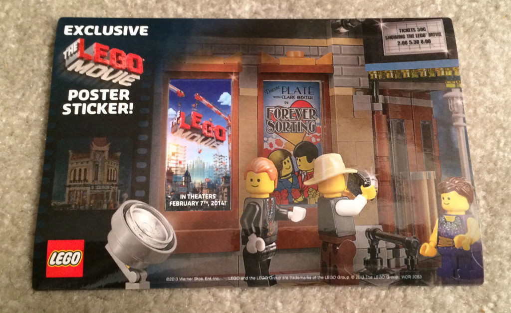 The Lego Movie 10132 Palace Sticker Exclusive