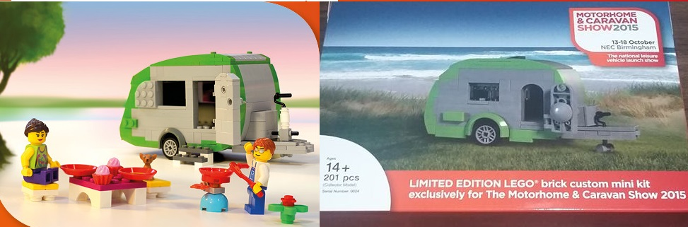 Lego Limited Edition Caravan and Motorhome set given away at show in UK