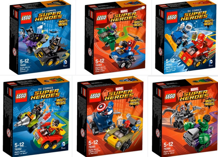 Lego DC and Marvel Super Heroes Mighty Micros Set Images 76061 76062 76063 76064 76065