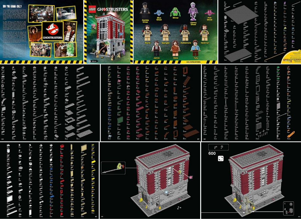 Lego Ghostbusters Firehouse Hq 75827 Building Instructions Available