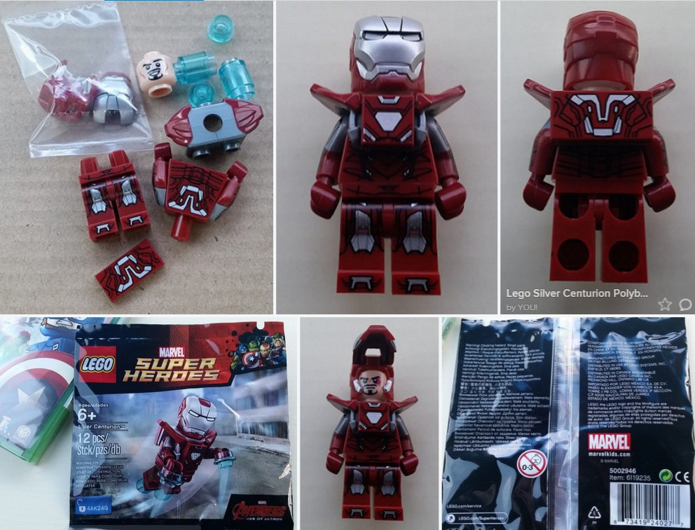 Lego Silver Centurion and Iron Partiot Minifigure GameStop