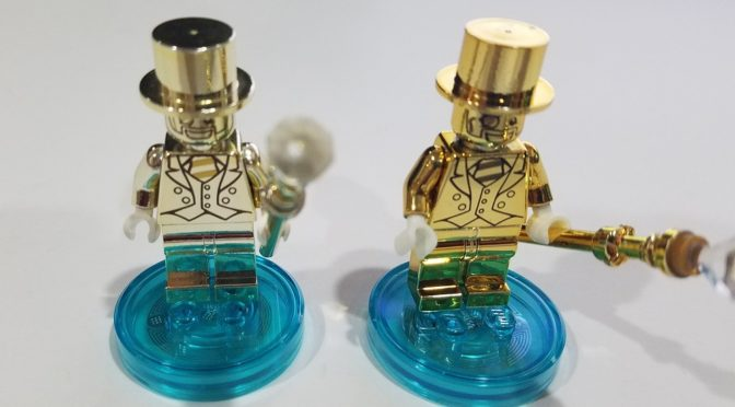 Lego Real Mr Gold Compared to Fake Chinese Mr Gold Minifigure ...