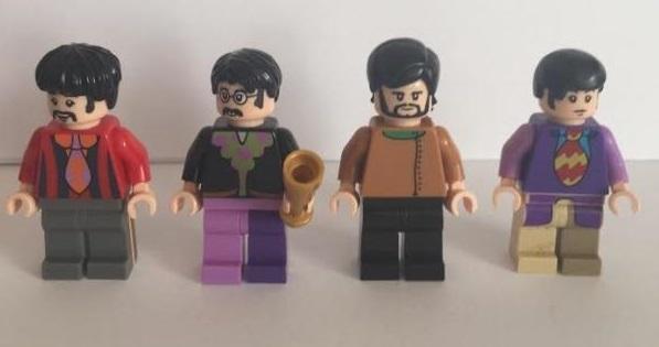 Lego Beatles Yellow Submarine Minifigures – John, Paul, Ringo and George