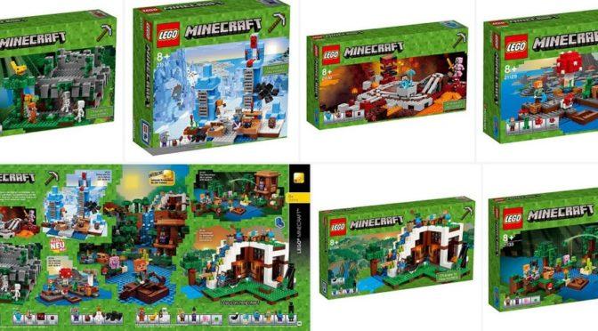 Lego 2017 Minecraft Sets 21129 21130 21131 21132 21133 21134 ...