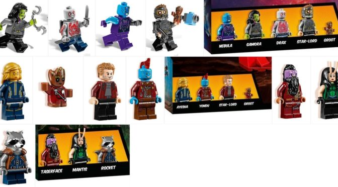Lego Guardians of The Galaxy 2 Hi Resolution Minifigure Images Revealed