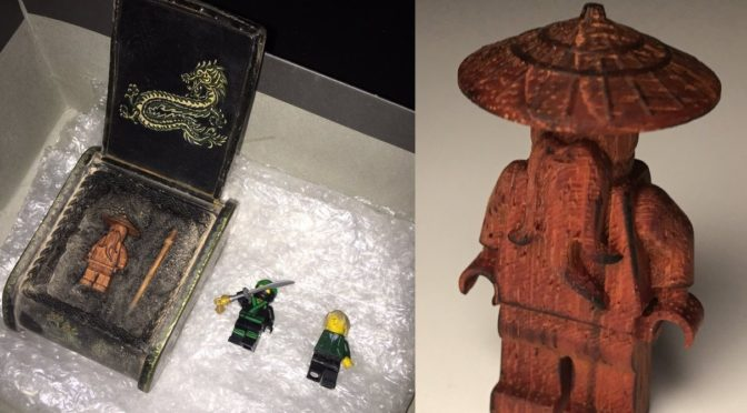 Extremely Exclusive Lego Wooden Wu Minifigure revealed – Yes – it is really made of Wood