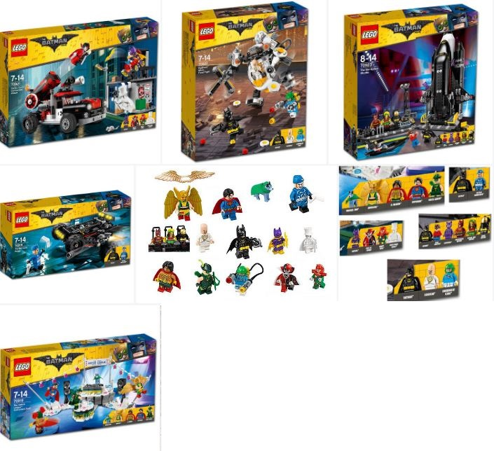 Box Art and Minifigures for Batman Wave II 70918 70919 70920 70921 ...