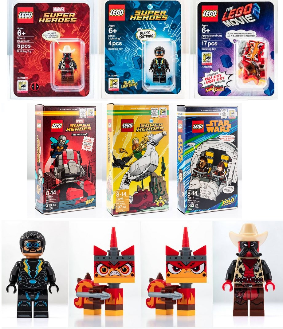 Lego Exclusive SDCC 2018 MiniFigures and Sets - Marvel and DC Comics