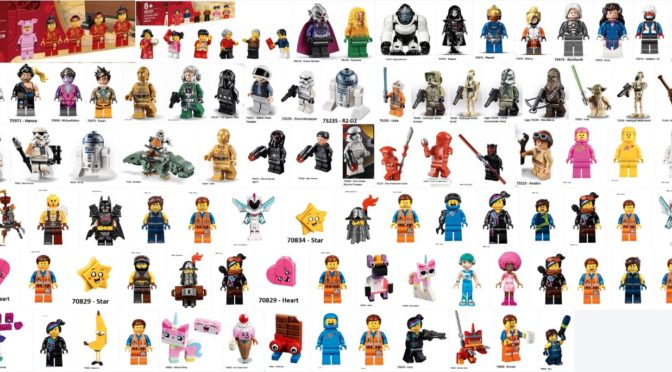 121ish 2019 Lego Minifigures From All The Licensed Sets Lego Movie