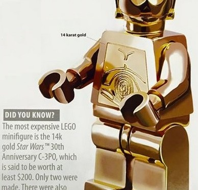 Lego Solid Gold C 3po For 200 Bucks Sign Me Up Minifigure Price Guide