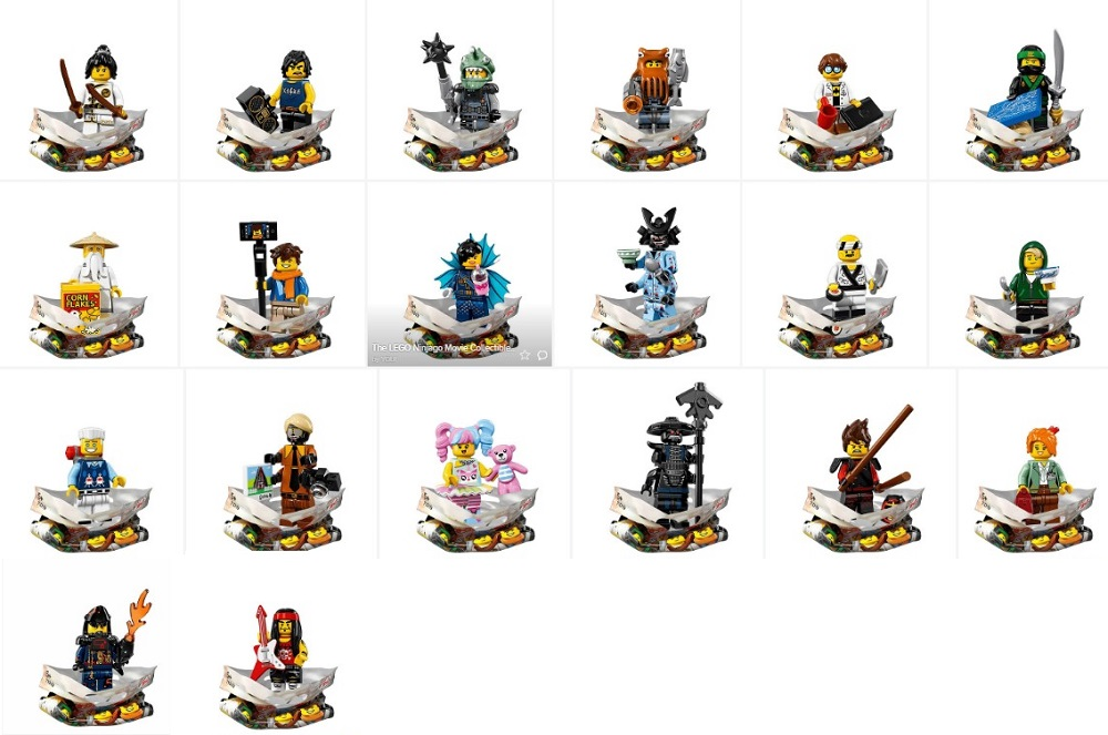 Lego 71019 Ninjago Movie Collectible Minifigure Series All 20 Figures Revealed By Lego Minifigure Price Guide
